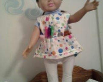 "18"" doll Craft Smock 311E"