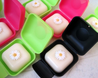 Soap Box with Shea Butter and Honey soap bar. Stocking Stuffer. Small, lightweight, with lock, great for traveling.