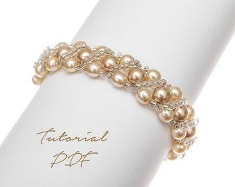 Beaded Bracelet Pattern Beading Pattern Bead Bracelet Tutorial Beaded Jewelry Pattern Beading Tutorial PDF Pattern Seed Bead Pattern Wedding