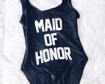 Maid of Honor Swimsuit | Maid of Honor Bathing Suit | Bride Squad