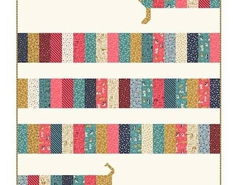 PATTERN DOXIE DOG Dachshund Weenie Dog All Wrapped Up Quilt
