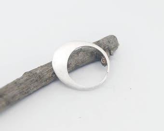 Matte silver ring, silver minimalist ring satin finish, modern ring, contemporary jewelry, original ring, modern jewelry,handmade ring