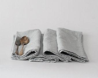 Set of Linen Napkins - Dove Gray