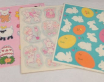 Vintage  Lot Of Easter  Stickers 1980s 80s #12