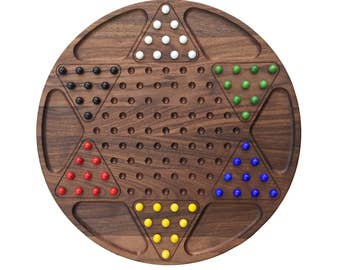 Chinese Checkerboard Heirloom Hardwood Family Game
