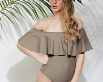 Vera one piece beige swimsuit