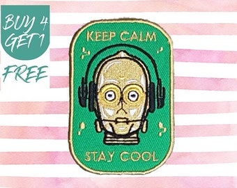 Quote Patches Robot Patch Iron On Patch Embroidered Patch Sew On Patch Patches For Jackets