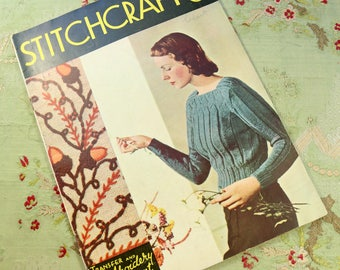 Vintage Stitchcraft 1930s knitting book catalog pattern ladies 30s 40s 1937 issue october 1937 no. 62 home journal