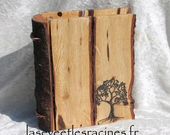 Wood type filofax refillable agenda