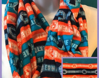 Doctor Who Flannel Infinity Scarf **SALE**