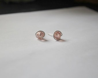 Blush Pink Stud Earrings