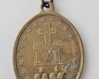 Rare Old Miraculous Medal Signed Vachette