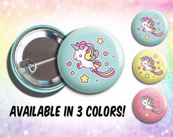 Kawaii unicorn pin, kawaii unicorn pin badge, kawaii unicorn button, unicorn pin badge, unicorn button badge, pin unicorn, button unicorn