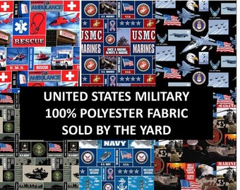US Military Fleece Blanket Fabric-Army Fleece, Navy Fleece, Air Force Fleece, Marine Fleece,Sold By the Yard-100% Poly