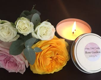 Soy Candle Handmade - Rose Garden
