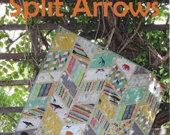 Split Arrows, Quilt Pattern, Beginner Quilt Pattern, Chevron Quilt Pattern, by Slice of Pi quilts, SPQ316