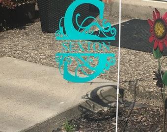 Monogram Plexiglass Garden Flag