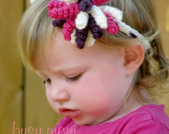 CROCHET PATTERN - Korker Bow Headband - Any Size - Easy - pdf 307- SELL what you make