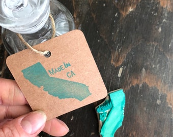 Made In California Rubber Stamp