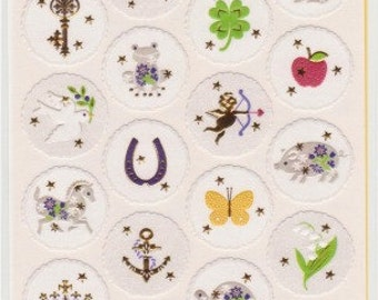 Lucky Stickers - Japanese Embossed Stickers - Reference A3781-82T4345A6448