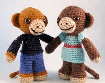 Little Monkey Amigurumi Pattern PDF - Crochet Pattern