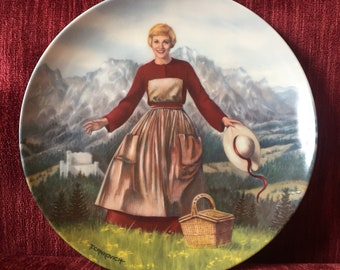 "Vintage ""The Sound of Music"" Collectible Plate - 1986 - by Knowles - Julie Andrews"