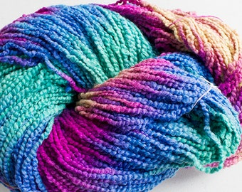 Puffin, Hand dyed cotton yarn, 8oz, 370 yds - Aurora