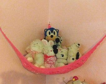 Résistant à la main au crochet hamac pour animaux de compagnie, jouet net, suspendus, rangement jouet, rangement animaux empaillé, chambre enfants et organisation de la chambre de bébé