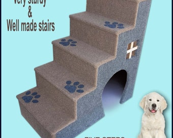 30 inches tall wooden dog steps, pet stairs