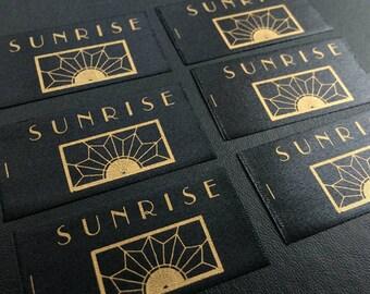 1000 clothing labels, Satin Labels, Soft Satin Labels heat cut edge, printed satin labels