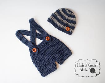 newborn crochet outfit, newborn boy outfit, newborn coming home outfit, newborn crochet overalls, baby crochet outfit, baby overalls
