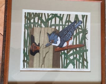 Beautiful Kingfisher Print By Artist Yvonne Davis, number 23 of 200