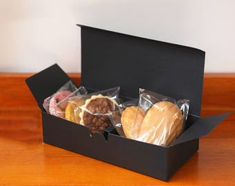 5 Black long gift boxes,black favor boxes,black cookie box,black candle box,wedding favor box,black gift box,bridal shower favor box,gift