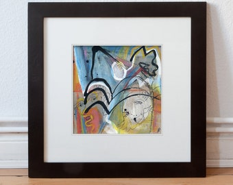 Picture-Abstract Original 15/15 cm (5.9/5.9 inch)