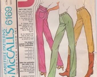 Pants Pattern Misses Pants Pattern  Size 10 - 14 - 1976 uncut McCalls 6169 Vintage Pattern