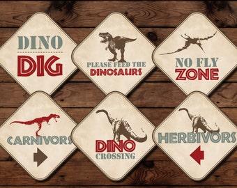 Dinosaur Birthday Party Signs, Dinosaur Birthday Printables, Dinosaur Party, Dinosaur Birthday, Dinosaur Signs, INSTANT DOWNLOAD, DIGITAL