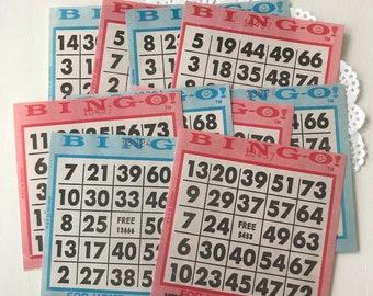 Vintage Bingo Cards - Retro Bingo Cards - Paper Bingo Cards - Junk Journal Supplies - Vintage Game Cards - Journal Ephemera - Vintage Bingo