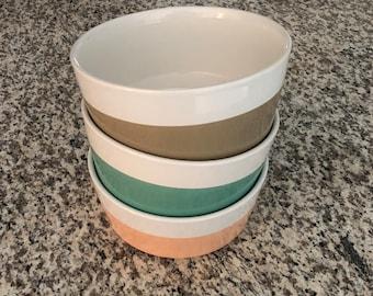 Ceramic Dog Bowl - Color Dipped Dog Bowl