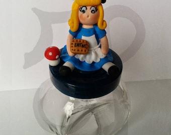 Kitchen jar with Alice in Wonderland