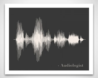 Audiologist Art Print Gift - Sound Wave & Voice Art Poster for Audiologists / AuDs