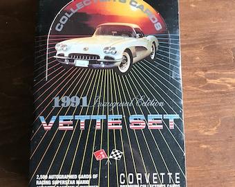 Vintage Unopened Box - 1991 Vette Set Corvette Collectors Cards - 36 Packs, 10 Cards Per Pack