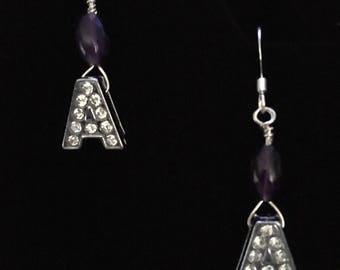 A initial earrings