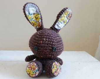 Large Brown Bunny, bunny stuffed animal, stuffed animal, amigurumi animals