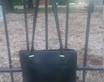 Longchamp black leather vintage handbag
