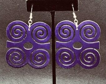 Purple Dwennimmen Earrings