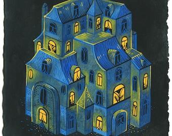 Original Painting - Blue House III