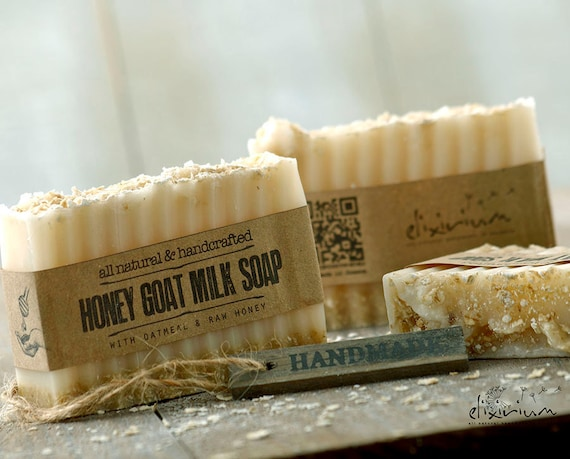 HONEY GOAT MILK Soap • with Oatmeal & honey, a rustic, all natural, handmade milk soap for organic skin care.