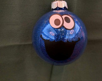Cookie Monster Christmas Ornament