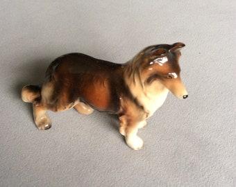 1950's vintage Collie Dog figurine marked Foreign
