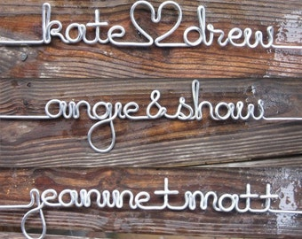 Personalized Length of Silver Wire for the DIY Wood Wire Wedding Dress Hanger Custom Bridal Great for Bridesmaids
